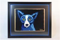 George Rodrigue The Blue Dog Print SLL