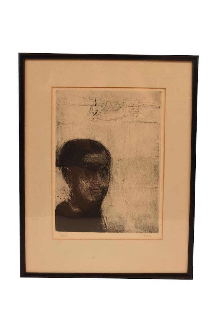 "Robert Marx Original Signed Etching ""Poet"""