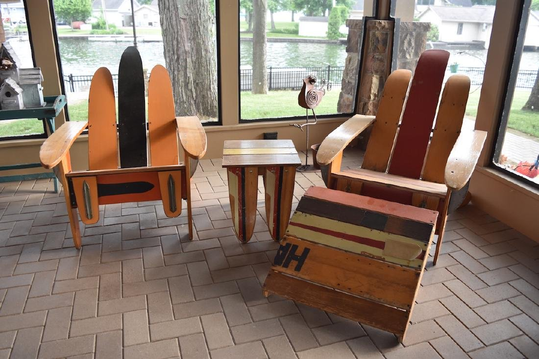 Outdoor Recycled Ski Chairs Adirondack Style