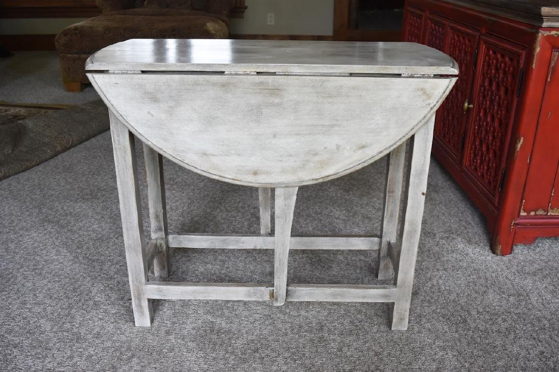 Foreside Double Drop Leaf White Wash Table
