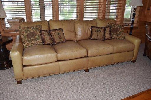 Cibola Furniture Distressed Leather Sofa