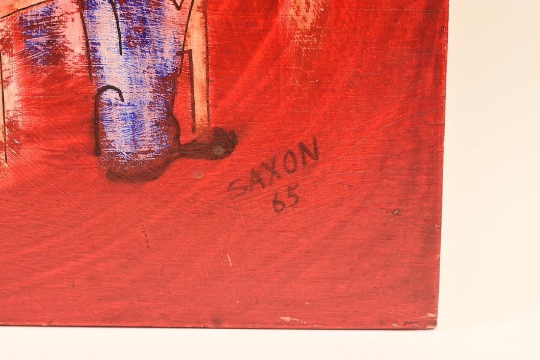 Jazz Themed Painting on Board by Saxon, SLR - 2