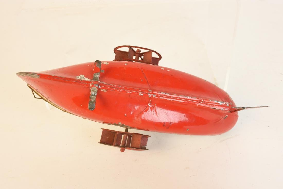 Early Wind-Up Tin Toys; Seal & Steamboat - 10