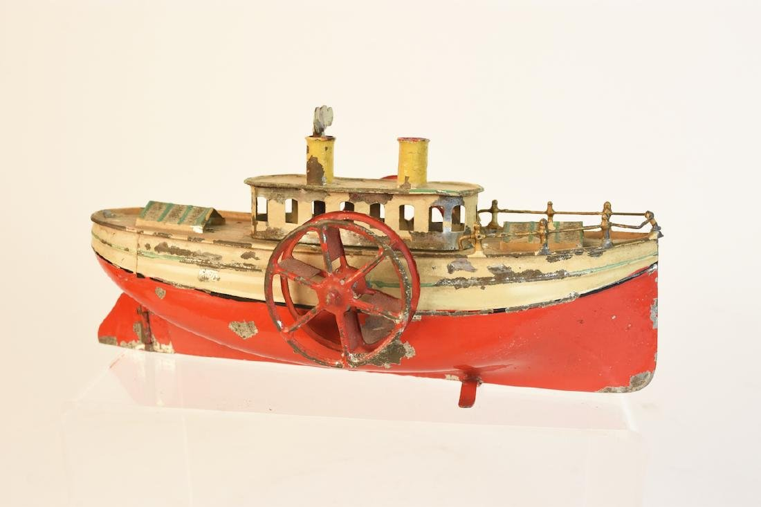 Early Wind-Up Tin Toys; Seal & Steamboat - 7