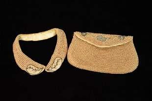 Vintage Sharonee Beaded Purse and Collar