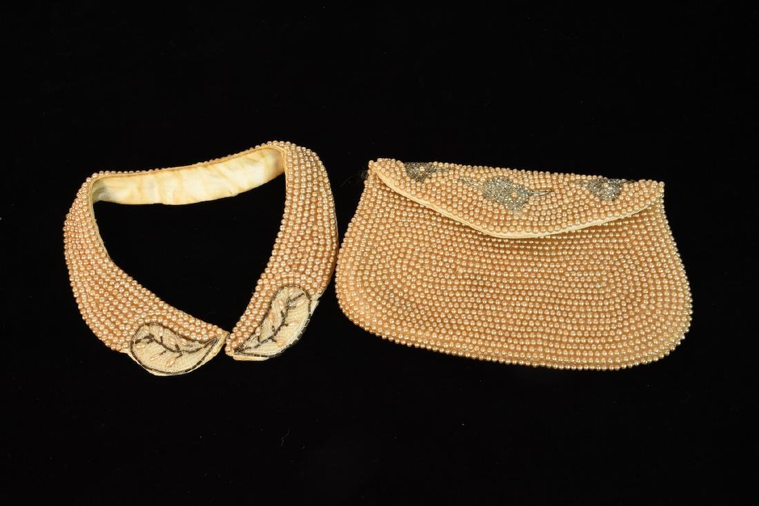 Vintage Sharonee Beaded Purse and Collar