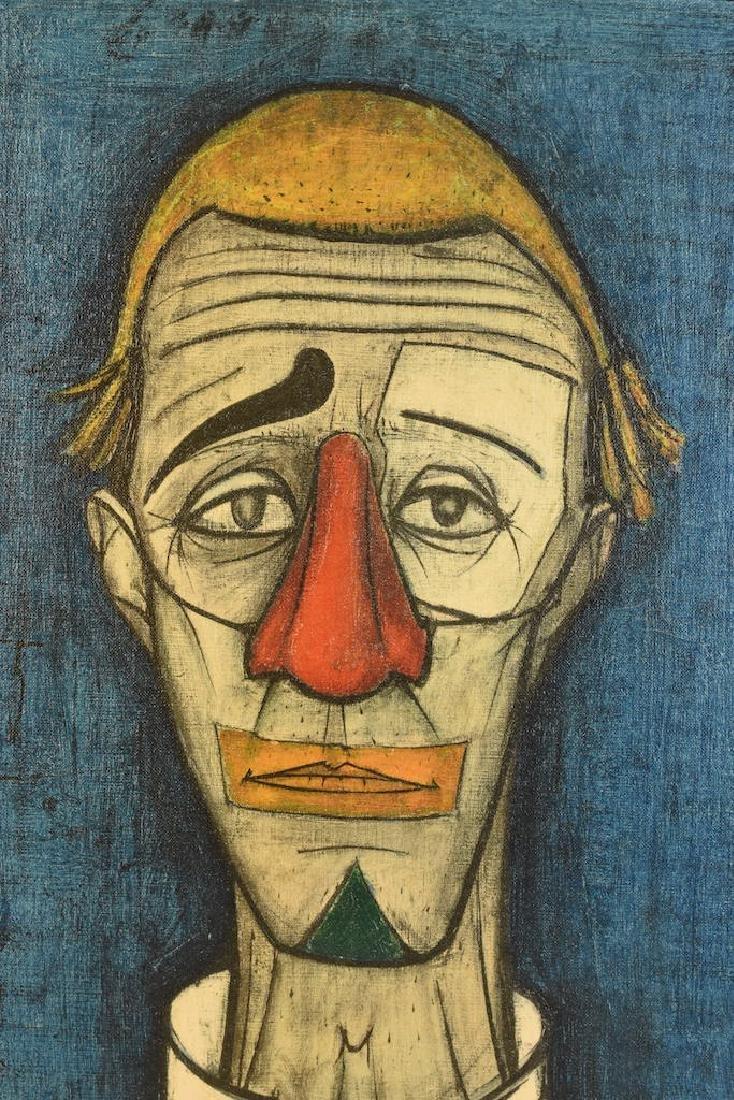 """1955 Bernard Buffet """"Tete de Clown"""" - 2"""