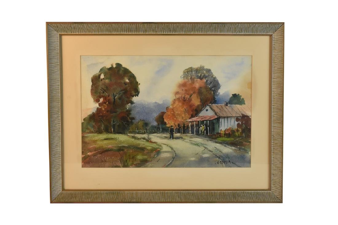 Original Watercolor by Louis Bonsib; SLR