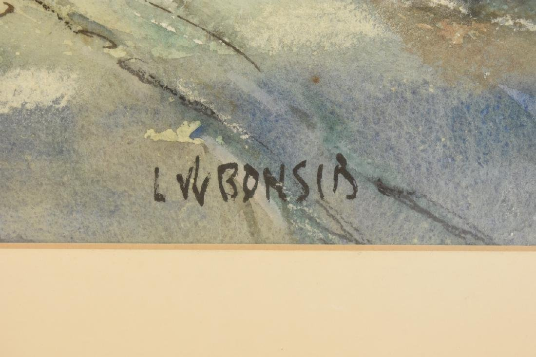 Original Watercolor by Louis Bonsib; SLR - 3