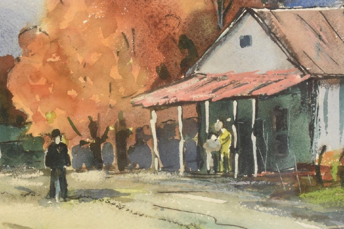 Original Watercolor by Louis Bonsib; SLR - 4