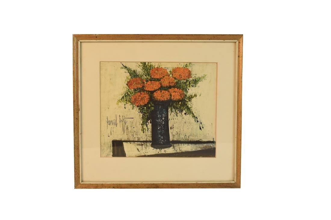 """Bernard Buffet Lithograph """"Red Flowers""""; SLL"""