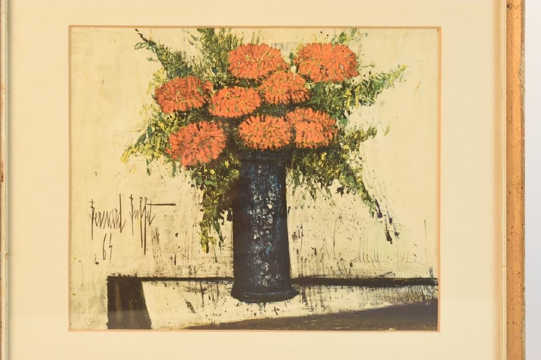 """Bernard Buffet Lithograph """"Red Flowers""""; SLL - 3"""