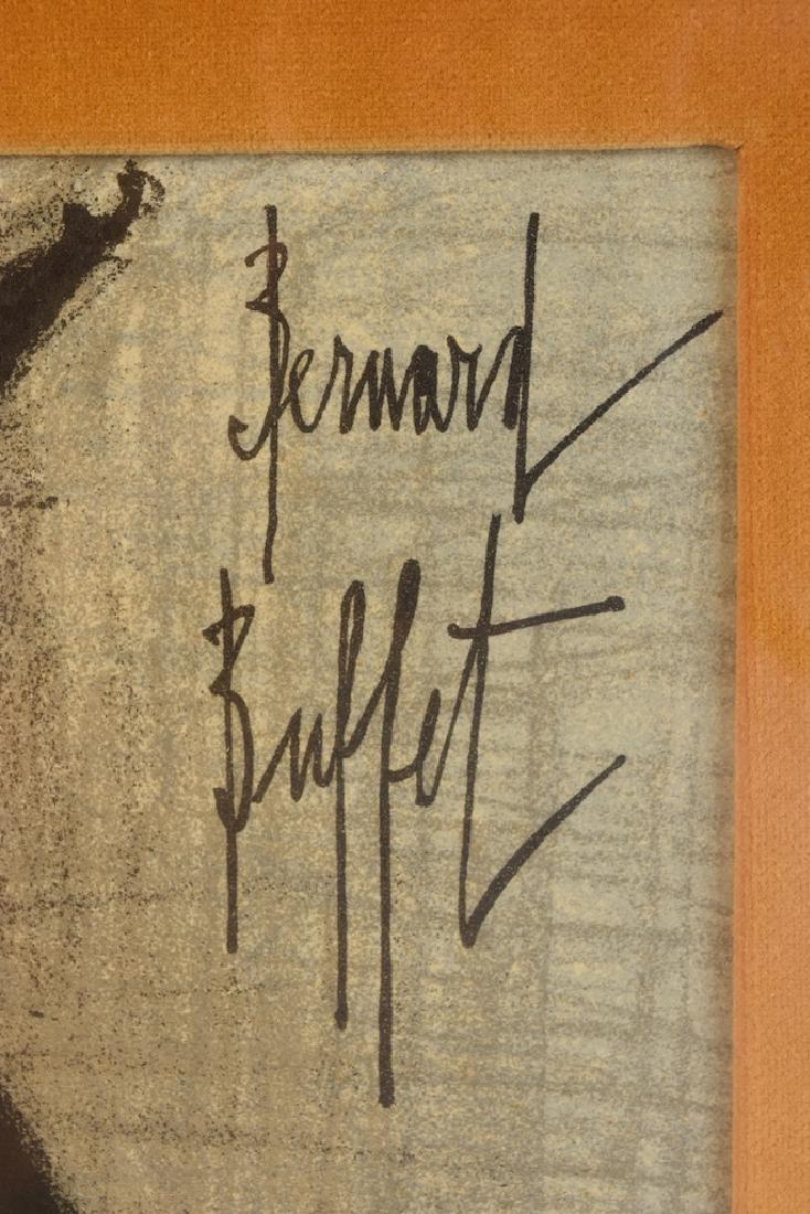 """Bernard Buffet Original Lithograph """"Owl"""" - 2"""