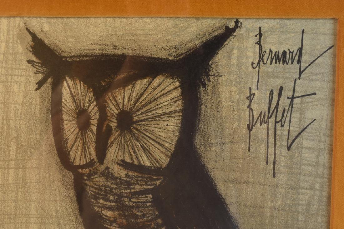 """Bernard Buffet Original Lithograph """"Owl"""" - 3"""