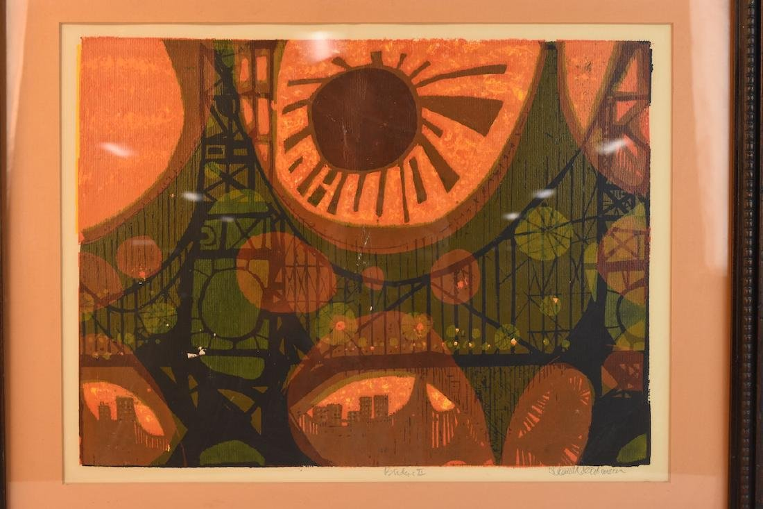 "David Weidman Serigraph ""Bridge II"", SLR - 4"