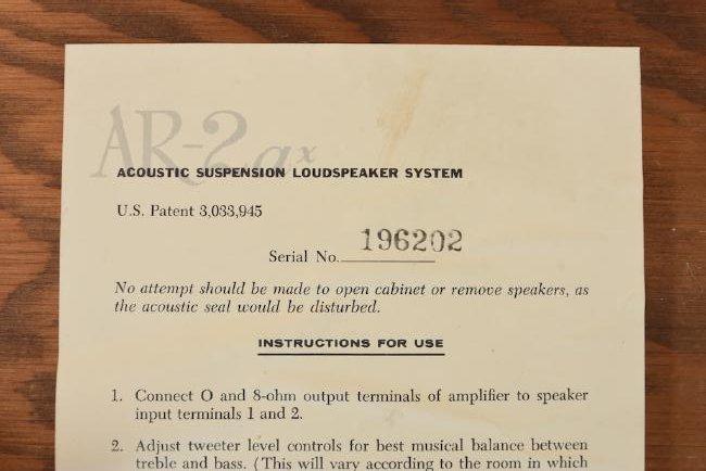 Pair of Vintage AR-2ax Speakers - 4