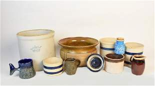 Assortment of Crocks Glazed Stoneware