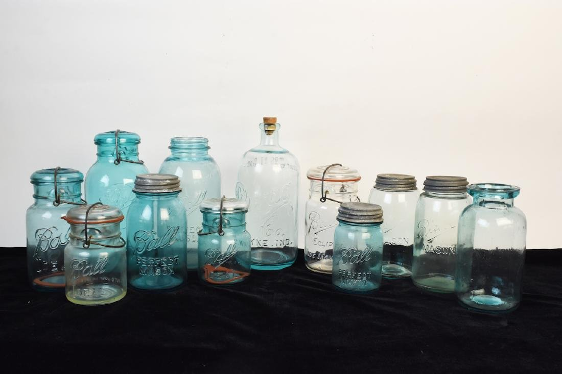 Vintage Ball Jars and Puraq Fort Wayne Bottle