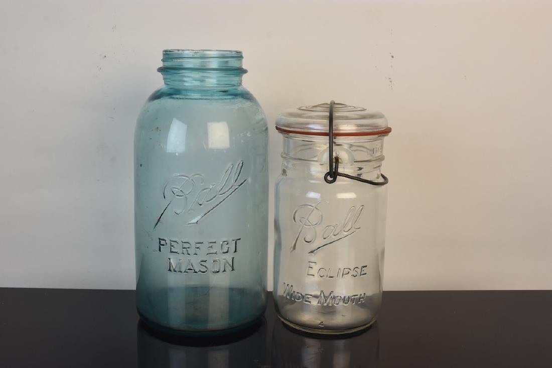Vintage Ball Jars and Puraq Fort Wayne Bottle - 6