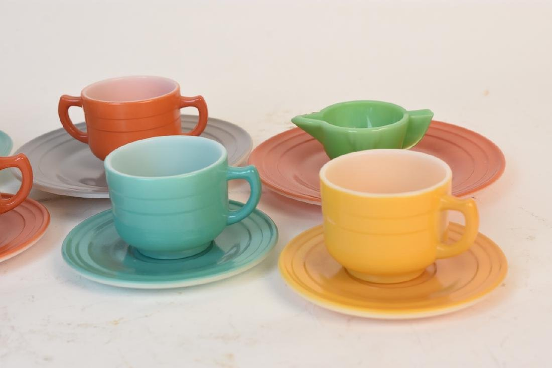 Child's Colorful Tea Set & Miniature Utensils - 2