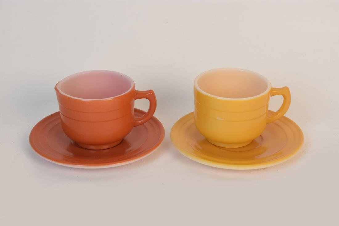 Child's Colorful Tea Set & Miniature Utensils - 3