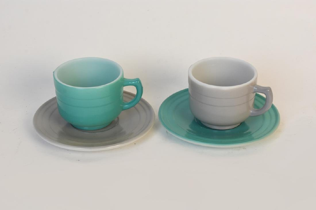 Child's Colorful Tea Set & Miniature Utensils - 4