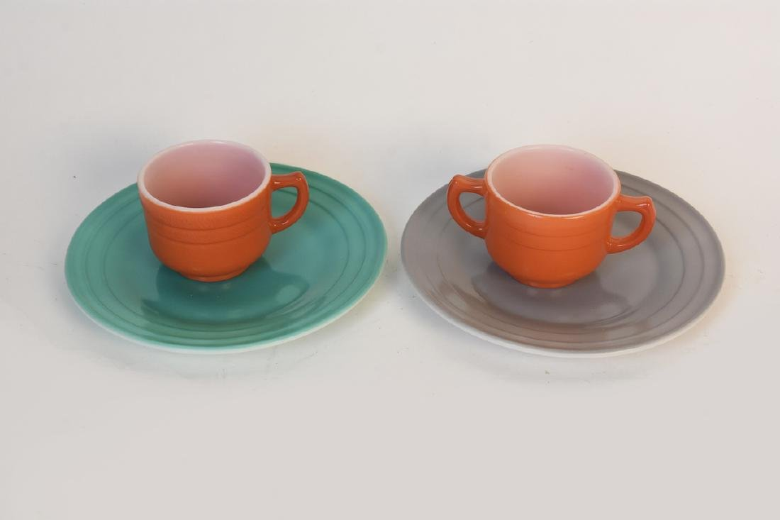 Child's Colorful Tea Set & Miniature Utensils - 5