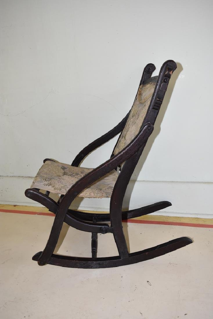 Child's Folding Wooden Rocking Chair - 3