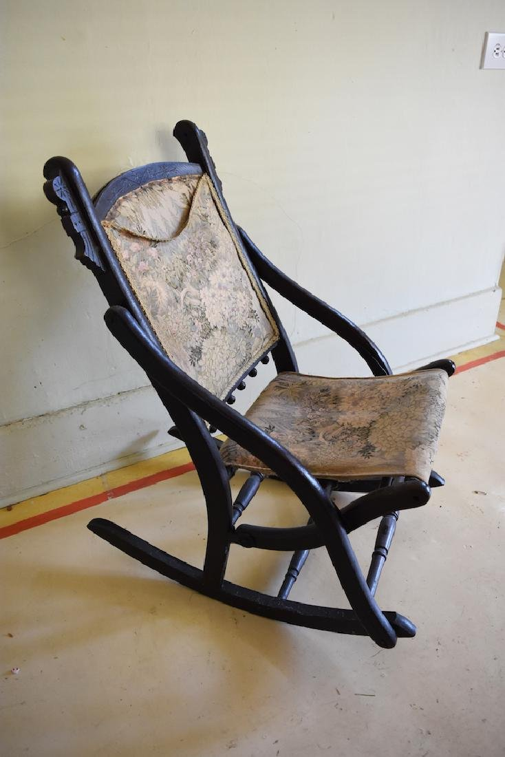 Child's Folding Wooden Rocking Chair - 6