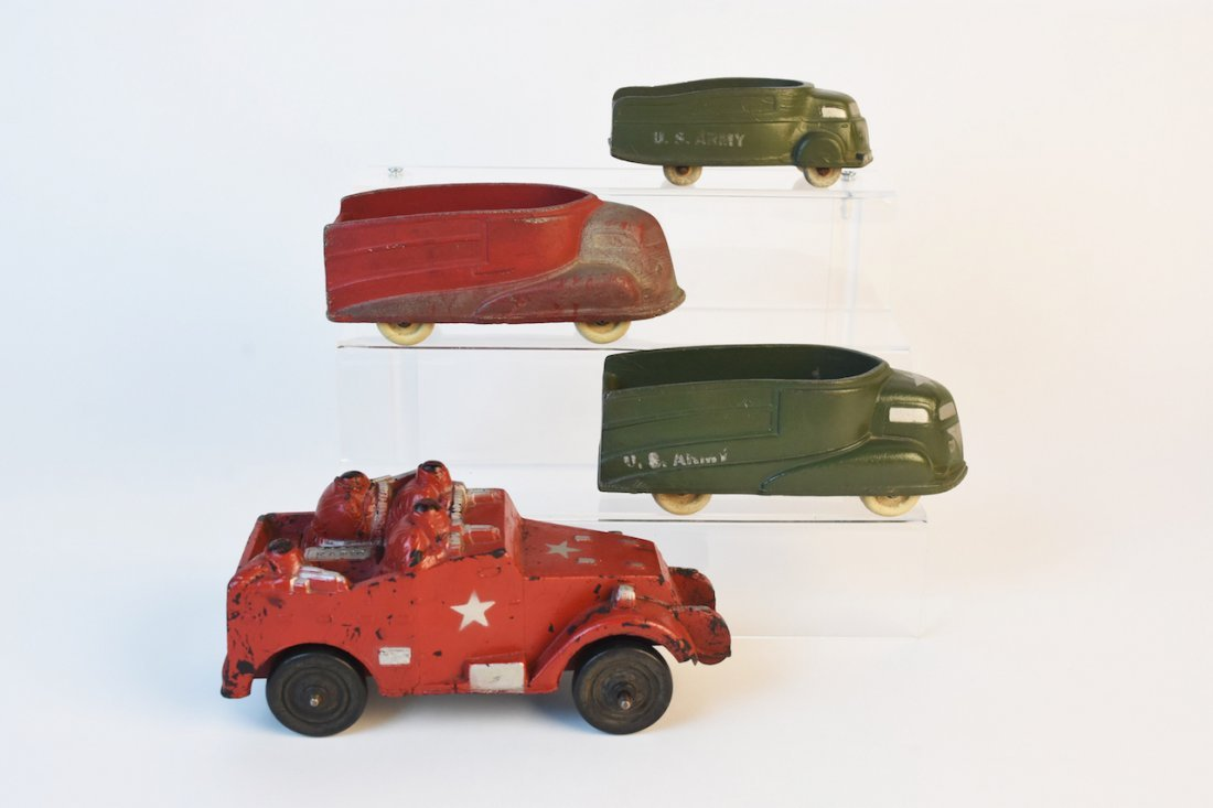 (4) Sun Rubber Co. Military Vehicles