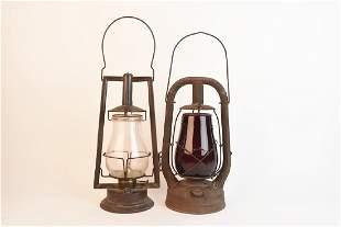 Early Dietz Hams Clipper Tubular Lanterns