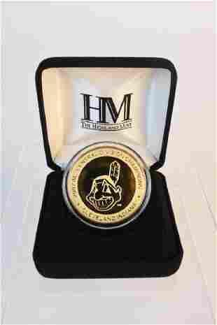 2007 Highland Mint Cleveland Indians Medallion