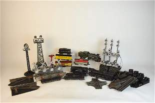 Large Lot of Marx Train Cars Accessories