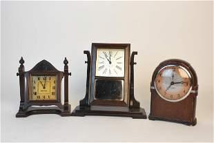 3 Vintage Desk Clocks Seth Thomas Windsor