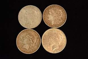 4 Silver Dollars