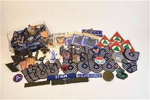 Assortment of Military Patches Memorabilia