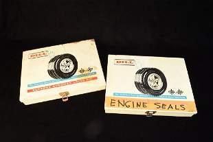 Vintage Automotive Dill Valve Kit Display Case