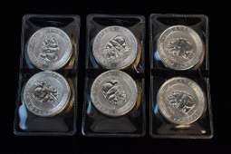 6 Canada 15 oz Silver Polar Bear  Cub Coin