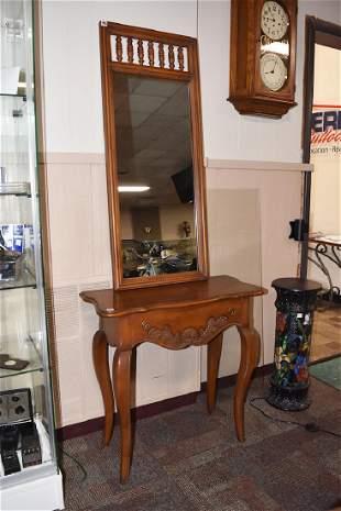 Hekman 1Drawer Entry Table w Mirror