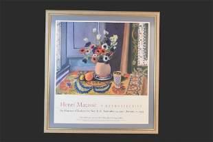 Henri Matisse Gallery Exhibit Poster in New York