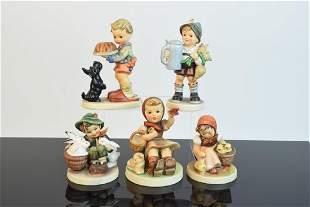 5 Assorted Hummel Figurines TMK3