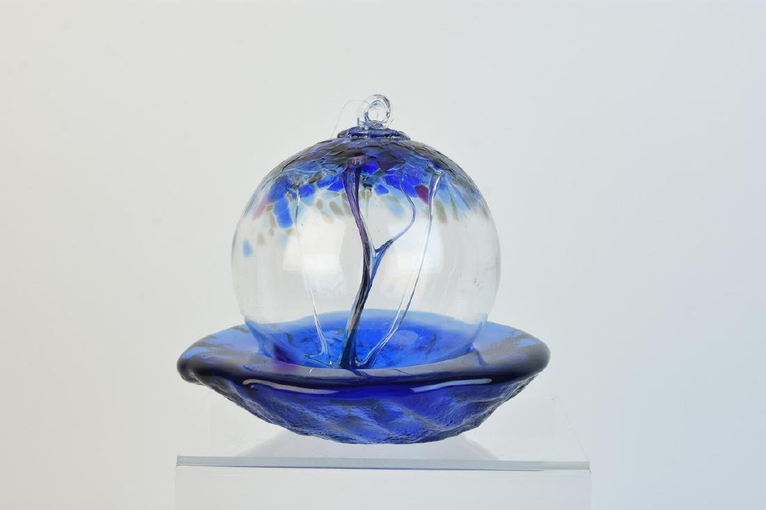 Glass Tree of Life Orb & Blenko Freestyle Bowl