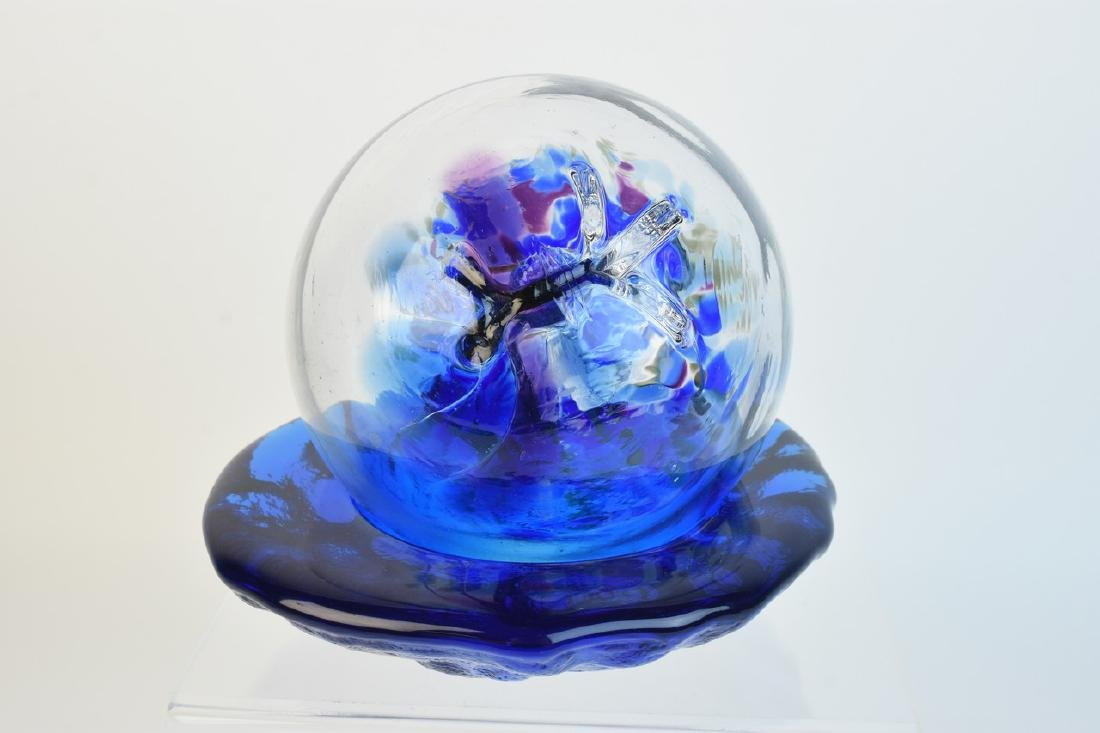 Glass Tree of Life Orb & Blenko Freestyle Bowl - 5