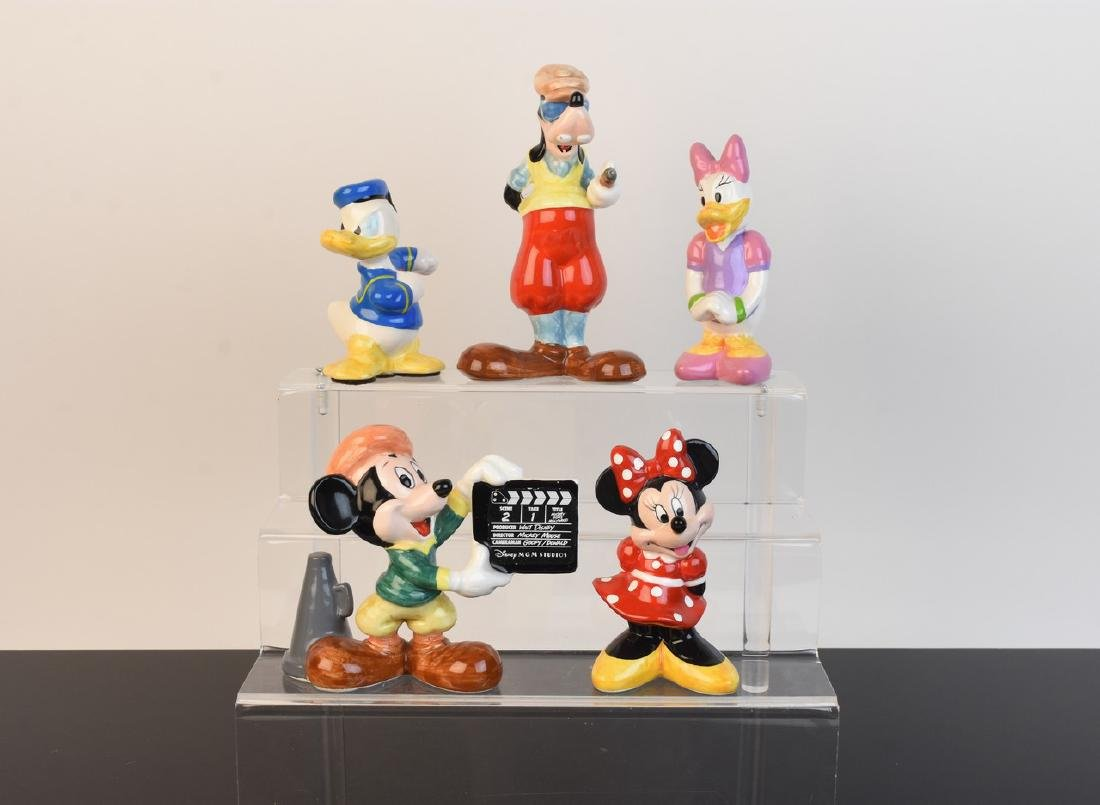 (5) Ceramic Walt Disney Figurines
