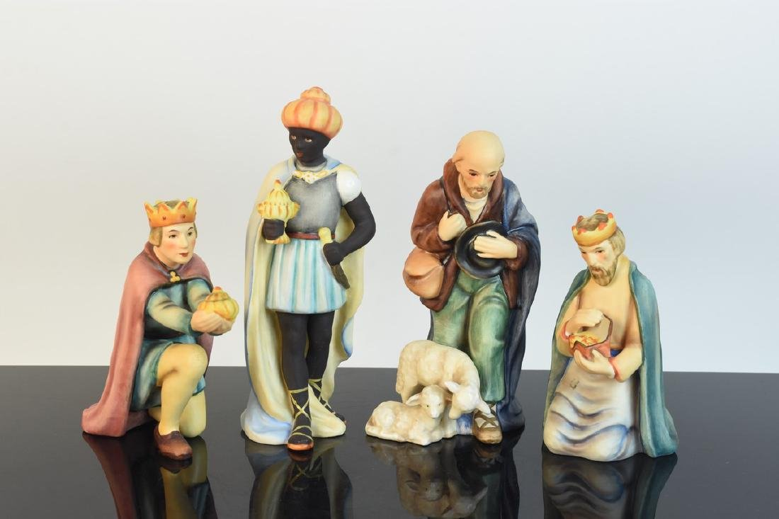 Hummel Nativity Scene; Wise Men & Shepherds
