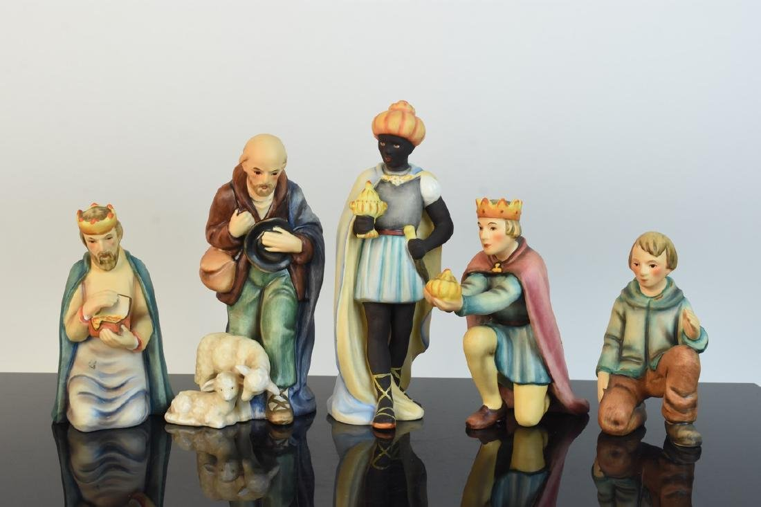 Hummel Nativity Scene; Wise Men & Shepherds - 8