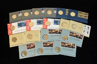 18 Bicentennial Covers With Coins