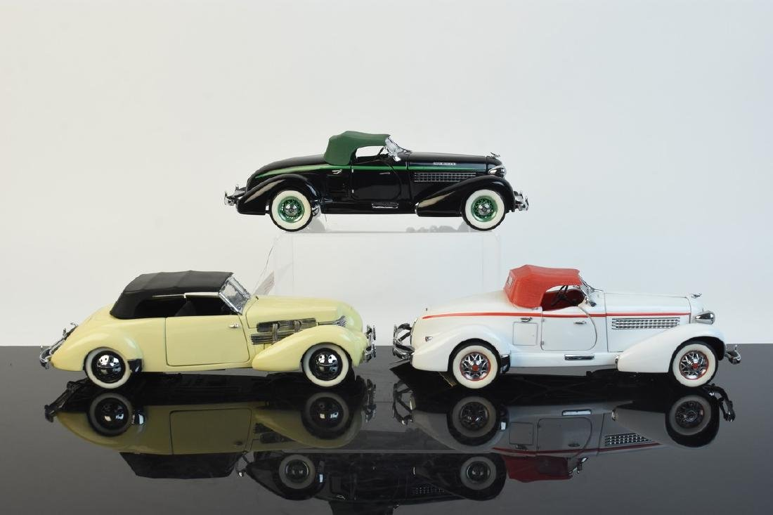 (3) Franklin Mint Precision Model 1:24 Die Cast
