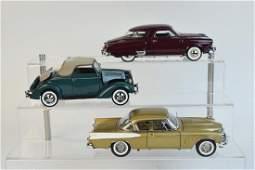 (3) Danbury Mint Studebaker & Ford Die Cast