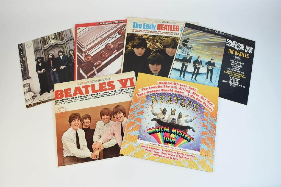 (6) Vintage Capitol Beatles Albums on Vinyl